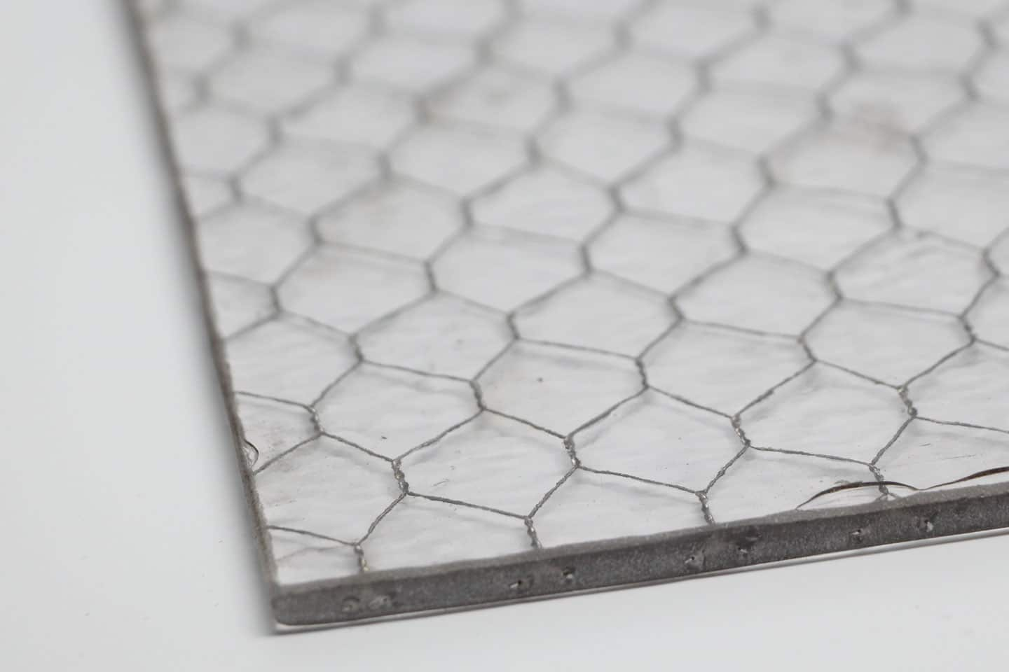 Hammered Chicken Wire Glass | Olde Good Glass