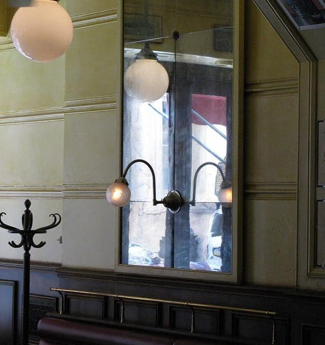 Parc Brasserie antiqued mirror