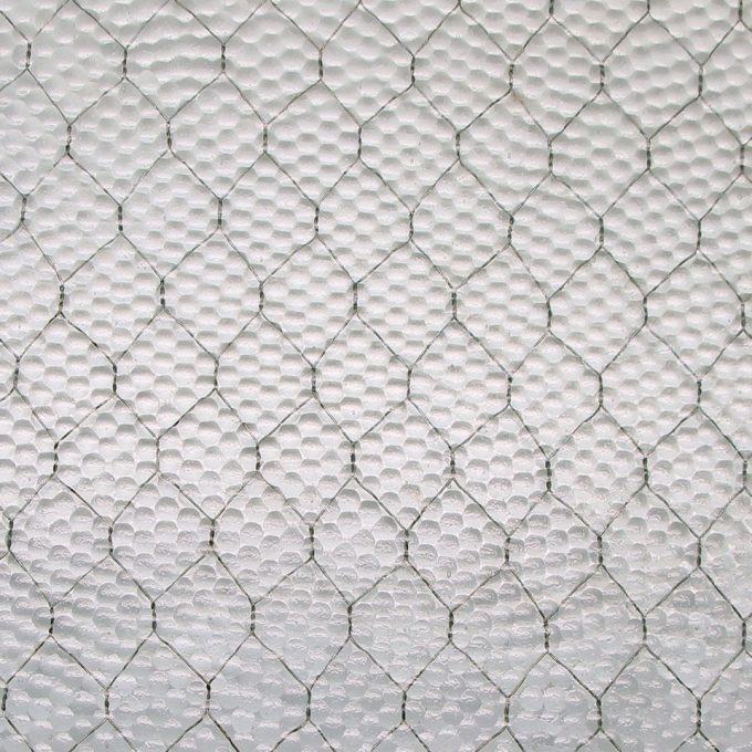 Pebbled Chicken Wire Glass | Olde Good Glass