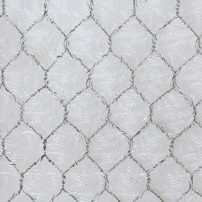 Wormy chicken wire glass